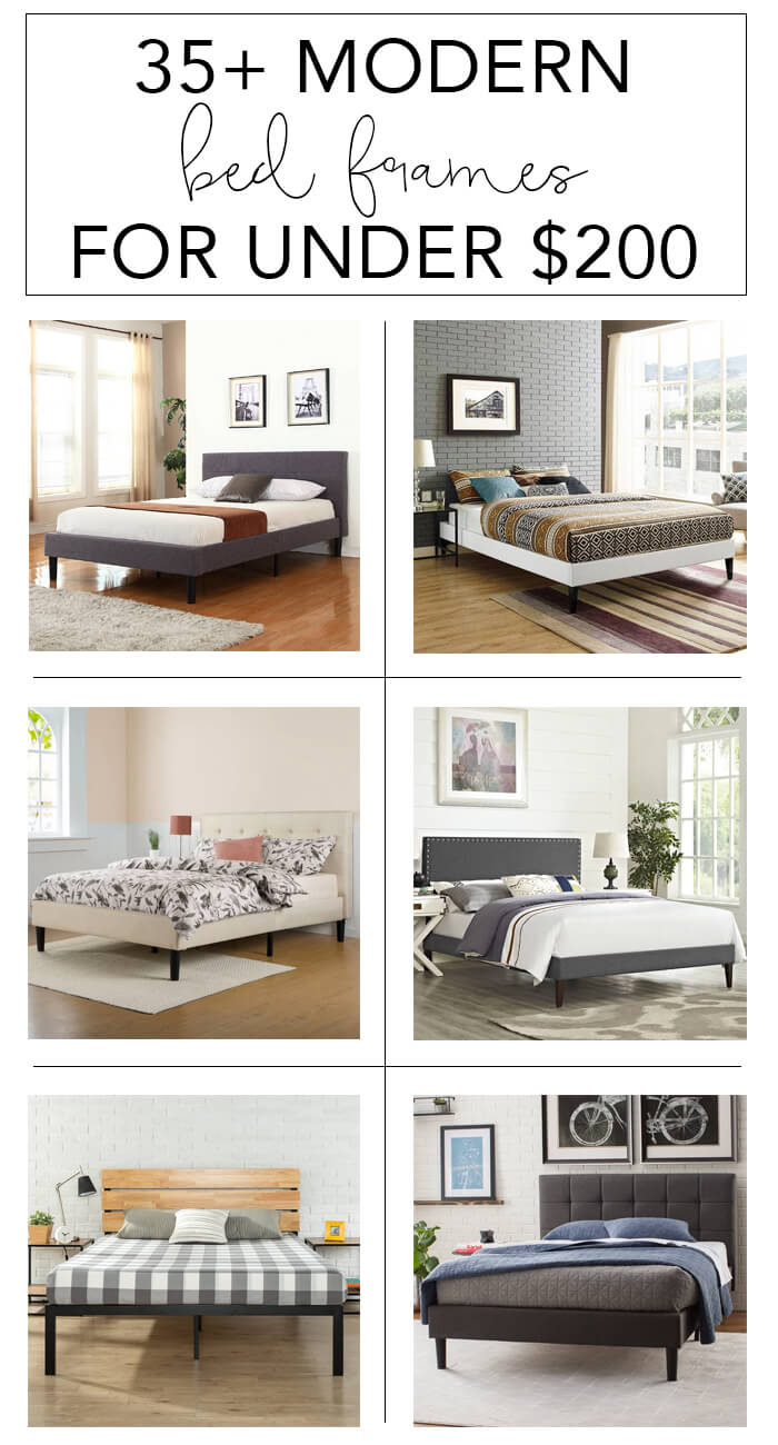 35+ Modern Bed Frames for Under $200 | My Breezy Room
