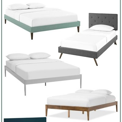 35+ modern bed frames for under $200. Modern bed frames on a budget. Make a statement with a modern, mid century bed frame.