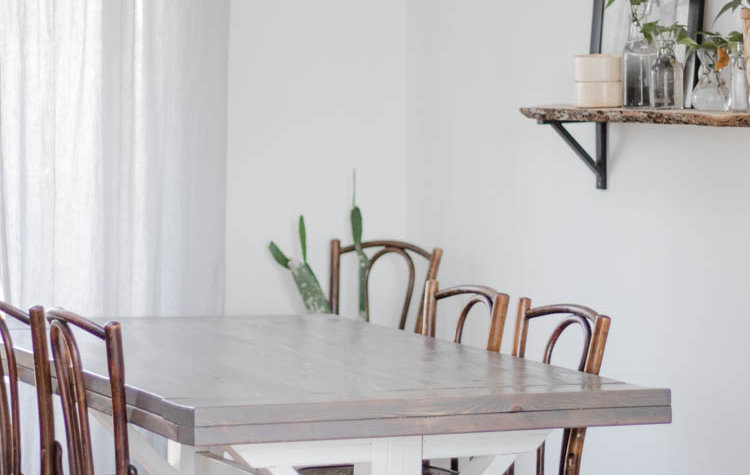 How to be a minimalist: minimalist dining room with clear counters and minimal decor