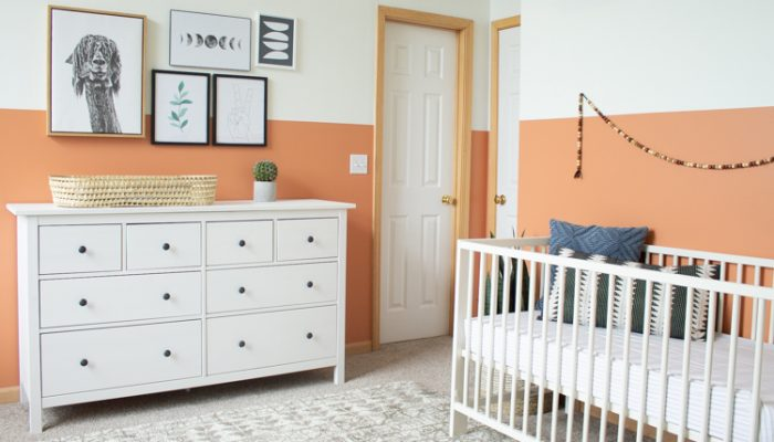 Modern Gender Neutral Nursery: Terra Cotta Baby Room