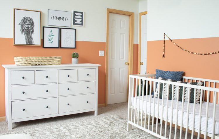 Gender Neutral Nursery: Modern Color Block Room