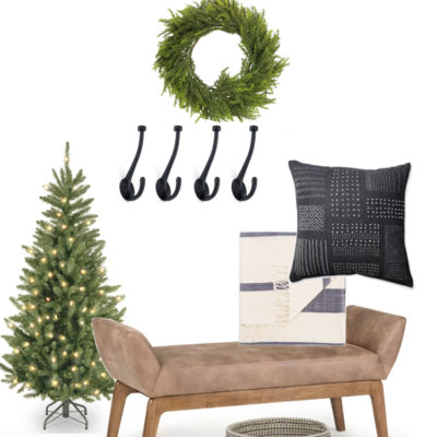 Holiday Entryway Decor Inspiration | My Breezy Room