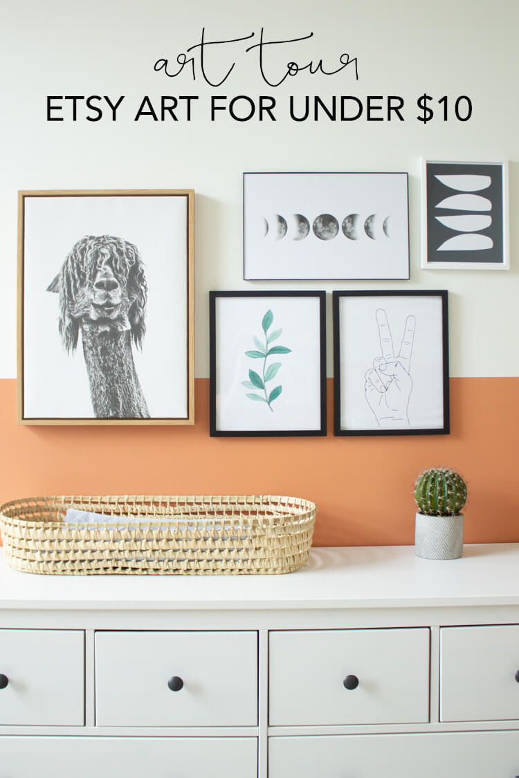 Links to all the art in my home, including lots of great Etsy art for under $10. | My Breezy Room