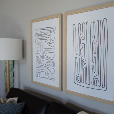 The Easiest Way to Frame Wall Art