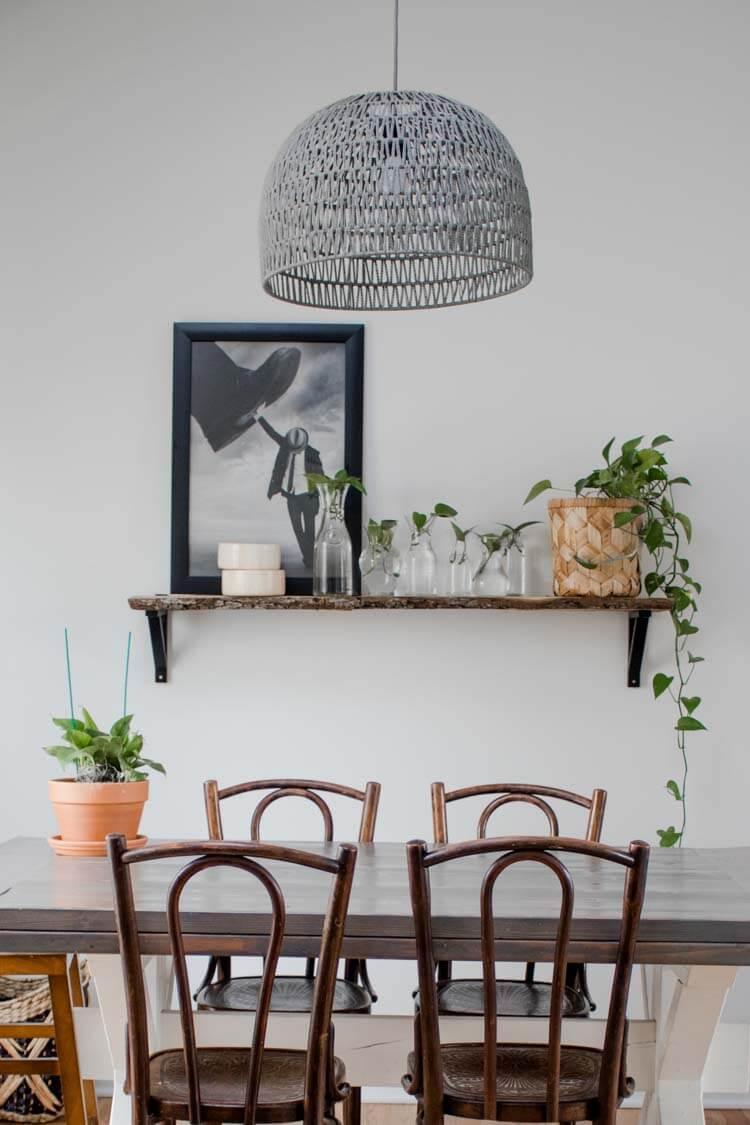 Shelf Decorating Idea Propagated Plant Shelf My Breezy Room