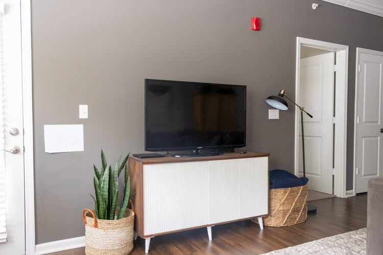 Apartment tour - views of the tv stand/toy storage