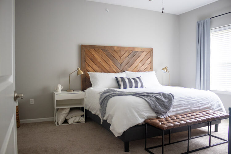 Apartment tour - master bedroom