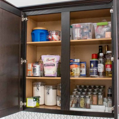 Spice Cabinet Organization from Amazon
