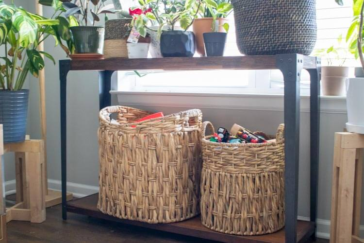 Woven baskets are great for adding texture and function to your home.