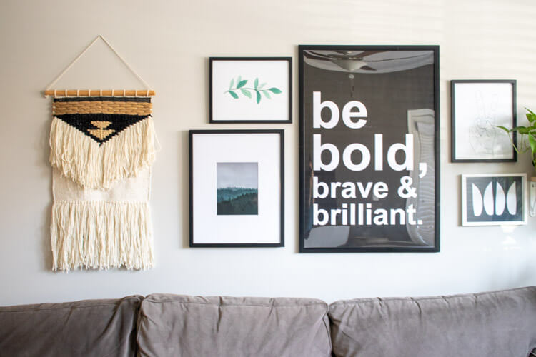 Woven wall hangings add extra texture to your home.