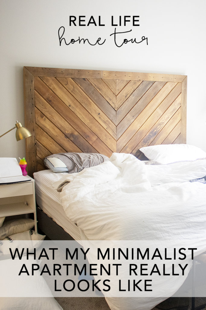 Real life home tour: messy minimalist bedroom