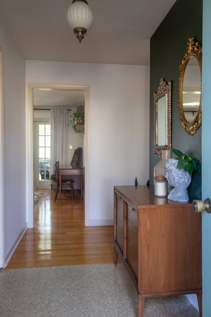 Antique Mirror Entryway