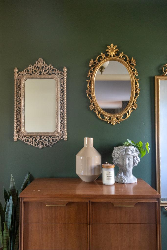 Antique Mirror Entryway